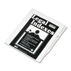Kleer-Fax 80000 Series Legal Index Dividers, Side Tab, Printed
