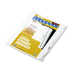 Kleer-Fax 90000 Series Legal Exhibit Index Dividers, 1/25 Tab, Printed