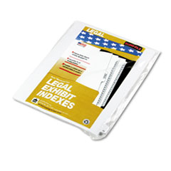 Kleer-Fax 90000 Series Legal Exhibit Index Dividers, Side Tab, Printed 