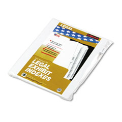 Kleer-Fax 90000 Series Legal Exhibit Index Dividers, 1/10 Cut Tab,