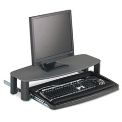 Over/Under Keyboard Drawer with SmartFit System, 14-1/2 x 23, Black