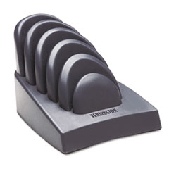 Kensington InSight Priority Puck Five-Slot Desktop Copyholder, Plastic, Dark Blue/Gray