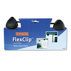 Kensington FlexClip Gooseneck Copyholder, Monitor/Laptop Mount, Black