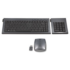 Kensington SlimBlade Wireless Multimedia Keyboard, Keypad, & Mouse Set, 98 Keys, Graphite