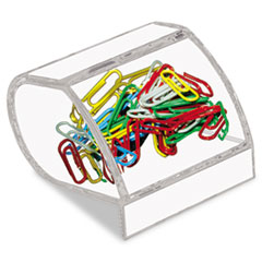 Kantek Paper Clip Holder, Acrylic, 3 x 2 3/4 x 3 1/2, Clear