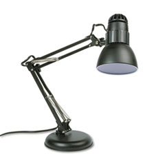 Ledu Incandescent Knight Swing Arm Desk Lamp, Weighted Base, 22
