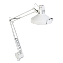 Ledu Three-Way Incandescent/Fluorescent Clamp-On Lamp, 40 Inch Reach, White