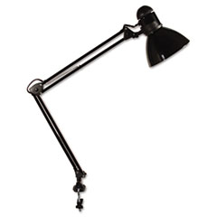 Ledu Opti Series Swing Arm Incandescent Lamp, 30 Inches Reach, Black
