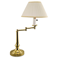 Ledu Brass Swivel Arm Incandescent Lamp, Mushroom Shade, Felt Pad on Base, 20 Inches