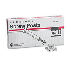 Charles Leonard Post Binder Aluminum Screw Posts, 3/16