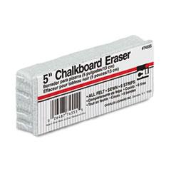 "Charles Leonard® ERASER 5 FELT CHALKBD WE 5-INCH CHALKBOARD ERASER, 5"" X 2"" X 1"""