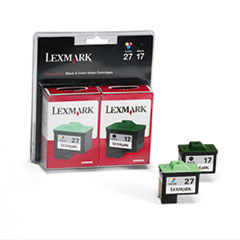 Lexmark 10N0595 (17, 27) Ink, 429 Page-Yield, 2/Pack, Black; Tri-Color