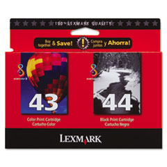 Lexmark 18Y0372 Ink, 500 Page-Yield, 2/Pack, Black; Tri-Color