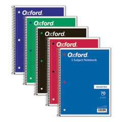 Oxford™-NOTEBOOK,1SUB,CLGE RLE,WH