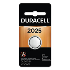 Duracell® BATTERY 2025 BUTTON CELL LITHIUM COIN BATTERY, 2025