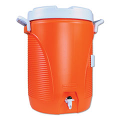Rubbermaid® Commercial COOLER WATER 5GAL OR INSULATED WATER COOLER, 5 GAL, ORANGE-WHITE