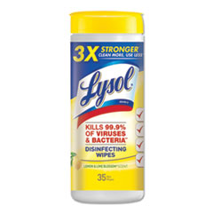 LYSOL® Brand WIPES LYSOL DISINFECTING DISINFECTING WIPES, 7 X 8, LEMON AND LIME BLOSSOM, 35 WIPES-CANISTER