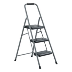 BLACK AND DECKER STEEL STEP STOOL, 3-STEP, 200 LB CAPACITY, GRAY