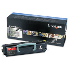 Lexmark X340H21G High-Yield Toner, 21000 Page-Yield, Black