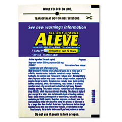 Aleve Pain Reliever Tablets Refill Packs, One-Pack, 30 Packs/Box