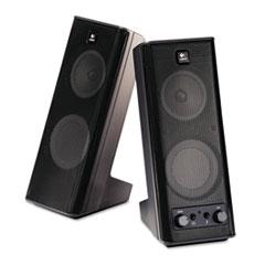Logitech X-140 2.0 Speaker System, 4w x 5d x 9-1/2h