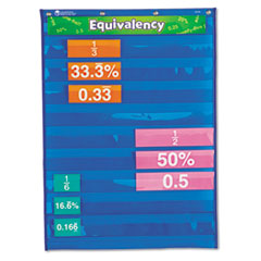 Learning Resources Equivalency Pocket Chart, 20 x 27