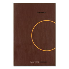 ONE-DAY-PER-PAGE PLANNING NOTEBOOK, 9 X 6, DARK GRAY/ORANGE, 2020