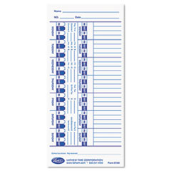 Lathem Time Universal Time Card, White, 100/Pack