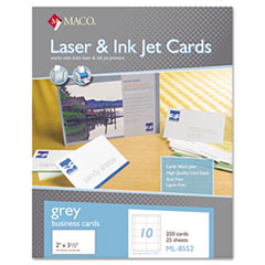 MAC ML8552 MACO Microperforated Laser/Ink Jet Business Cards MACML8552
