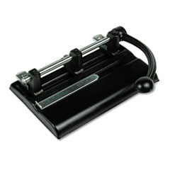 Master 40-Sheet Lever Action Two- to Seven-Hole Punch, 13/32