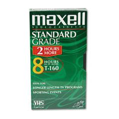 Maxell High-Quality GXT160 VHS Videotape Cassette, 8 Hours