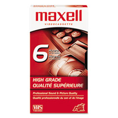 Maxell Premium Grade VHS Videotape Cassette, 6 Hours