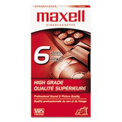 Maxell Premium Grade VHS Videotape Cassette, 6 Hours
