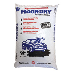 Floor-Dry™ SORBENTS FLOOR-DRY 25LB DE PREMIUM OIL ABSORBENT, DIATOMACEOUS EARTH, 25LB POLY BAG