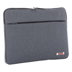 """Swiss Mobility SLEEVE LAPTOP 14"""" GY STERLING 14"""" COMPUTER SLEEVE, HOLDS LAPTOPS 14.1"""", 1"""" X 1"""" X 10.5"""", GRAY"""