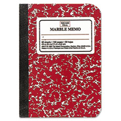 Mead Square Deal Colored Memo Book, 3/14 x 4 1/2, Assorted