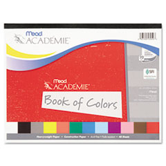 Mead Academie Book of Colors, Construction Paper, 18 x 12, Assorted, 48 Sheets