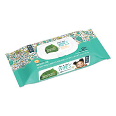 Seventh Generation® WIPES BABY 64CT-PK FREE AND CLEAR BABY WIPES, UNSCENTED, WHITE, 64-PACK