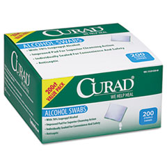Curad Alcohol Swabs, 1 x 1, 200/Box