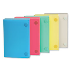 C-Line® CASE INDEX CARD 3X5 AST Index Card Case, Holds 100 3 X 5 Cards, Polypropylene, Assorted