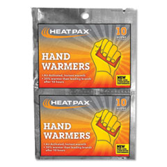 OccuNomix® WARMER HEAT PACKS 10-PK Hot Rods Hand Warmers, 10-pack
