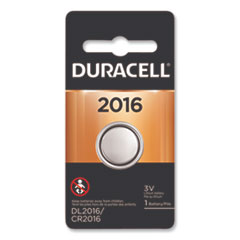 Duracell® BATTERY 2016 BUTTON CELL LITHIUM COIN BATTERY, 2016