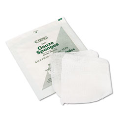 Medline Caring Woven Gauze Sponges, 4 x 4, Sterile, 12-Ply, 600/Carton