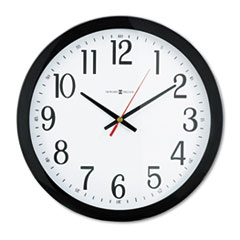 Howard Miller Gallery Wall Clock, 16in, Black