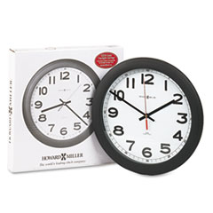 Howard Miller Norcross Auto Daylight-Savings Wall Clock, 12-1/4in, Black, 1 AA