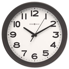 Howard Miller Kenwick Wall Clock, 13-1/2in, Black