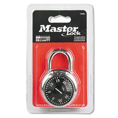 Master Lock Combination Lock, Stainless Steel, 1 15/16