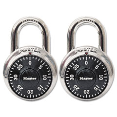 Master Lock Combination Lock, Stainless Steel, 1-7/8