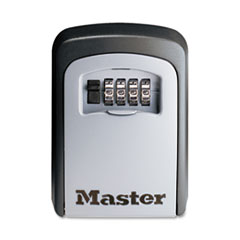 Master Lock Locking Combination 5 Key Steel Box, 3 7/8w x 1 1/2d x 4 5/8h, Black/Silver