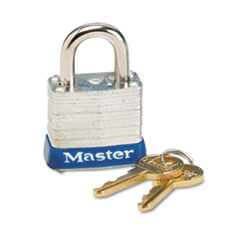 Master Lock Four-Pin Tumbler Lock, Laminated Steel Body, 1-1/8
